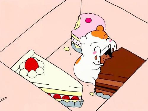에비츄 먹방 케이크